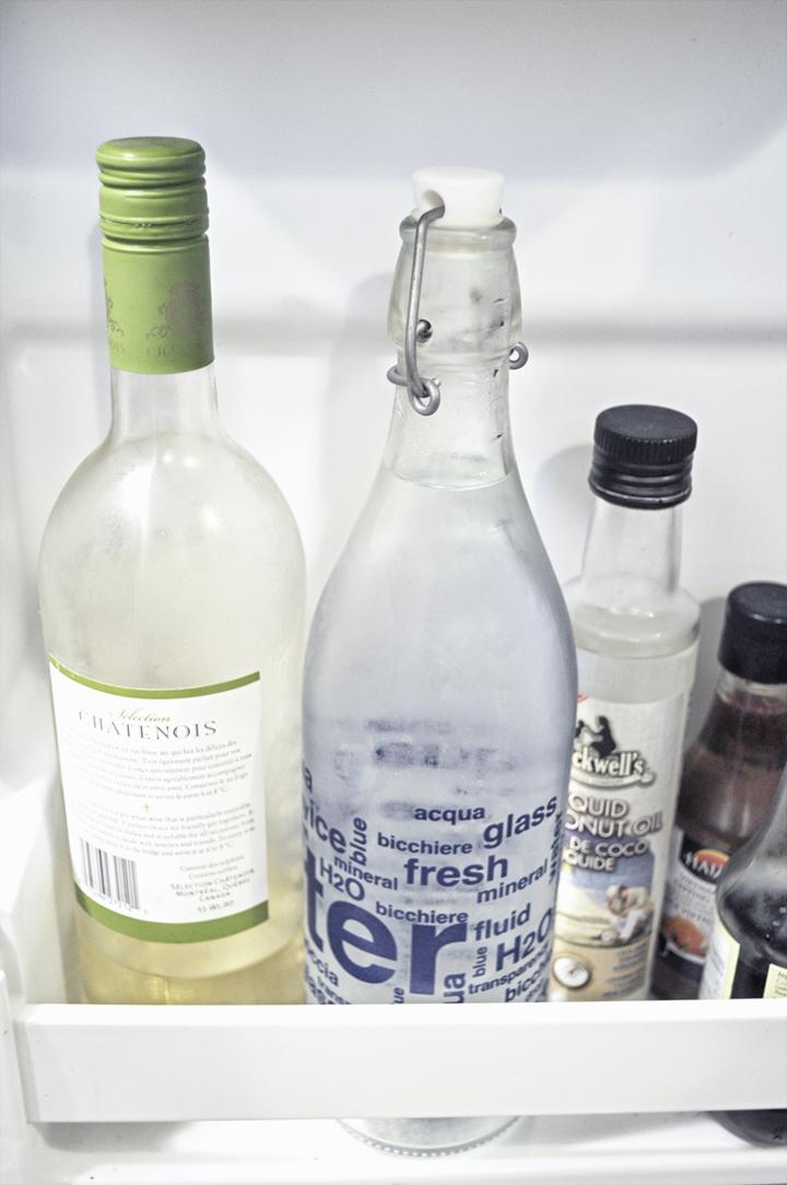 Ma bouteille d'eau dans mon frigo